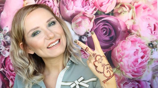 youtube videoları, hint kınası uygulaması, türk youtuber, henna tattoo tutorial , güzellik blogları , makyaj blogları