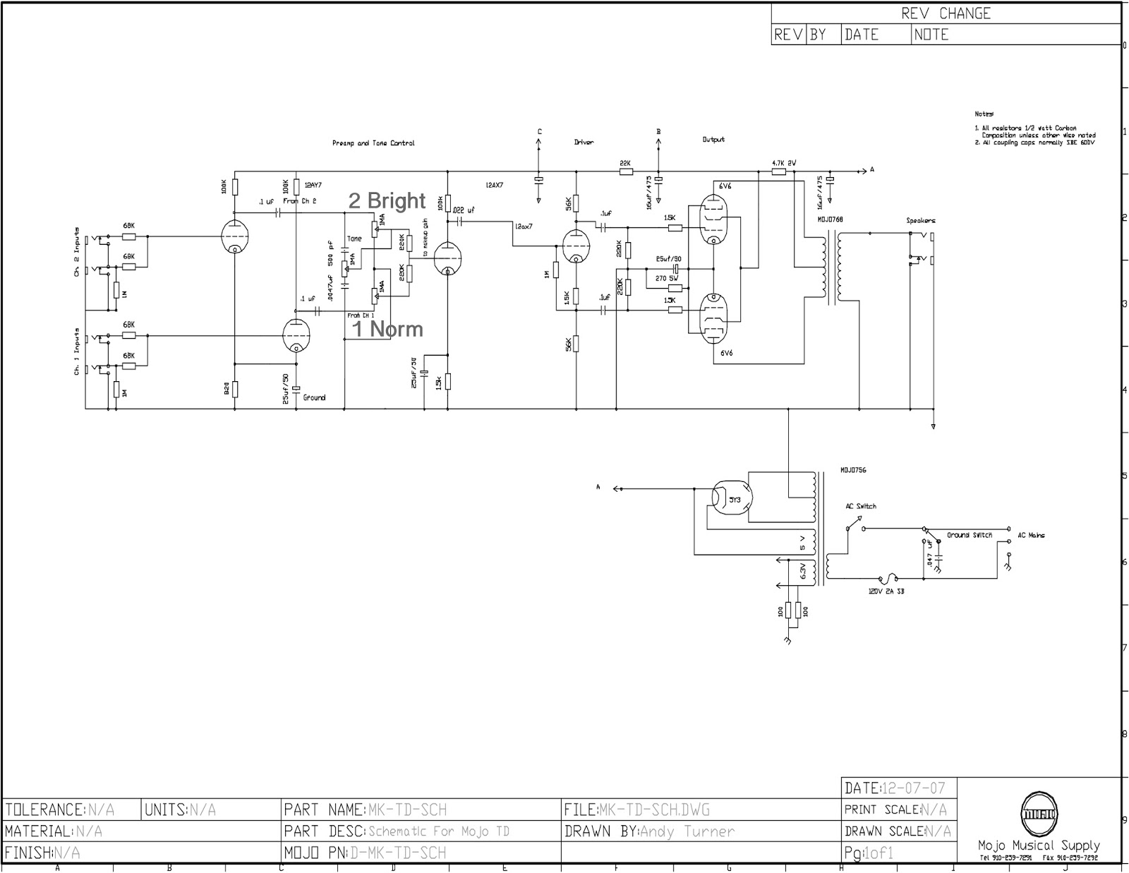 Forsbach Productions: Building and Modifying MojoTone 5E3 Deluxe on silver tone 1472 amp schematic, princeton reverb schematic, boss ce 5 schematic, supro schematic, guitar amp circuit board schematic, 5f1 schematic, fender excelsior schematic, vox ac15 schematic, 5c1 schematic, fender deluxe schematic, cry baby foot pedal schematic, 100 watt marshall schematic, fender m 80 schematic, klon schematic, deluxe 6g3 schematic,