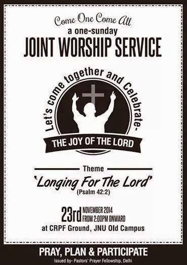 Delhi ah Join Worship Service zat hiding.