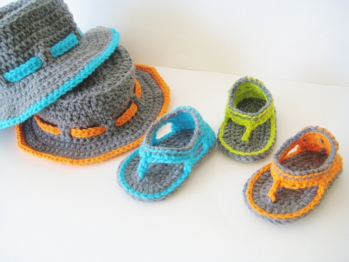 Free Crochet Patterns Baby Boy : Free Baby Boy Crochet Sandals Pattern