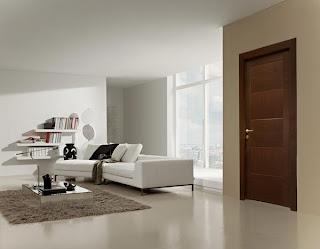 Puertas wengue y decoraci n de interiores ideas para - Decoracion combinar suelo y puertas ...