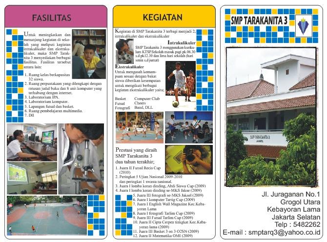 Brosur lengkap SMP Tarakanita 3