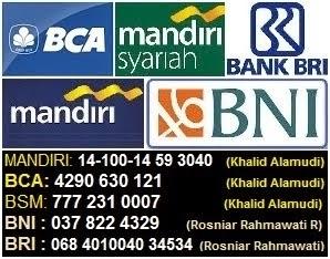PEMBAYARAN FIA: BCA / BSM / BRI