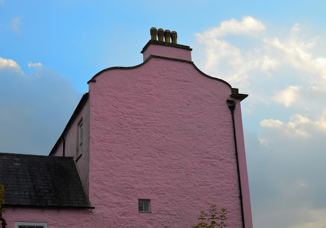 Pink Castle House Laugharne
