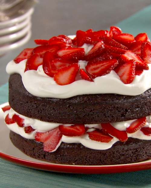 Chocolate Cake With Whipped Cream And Berries Delicious