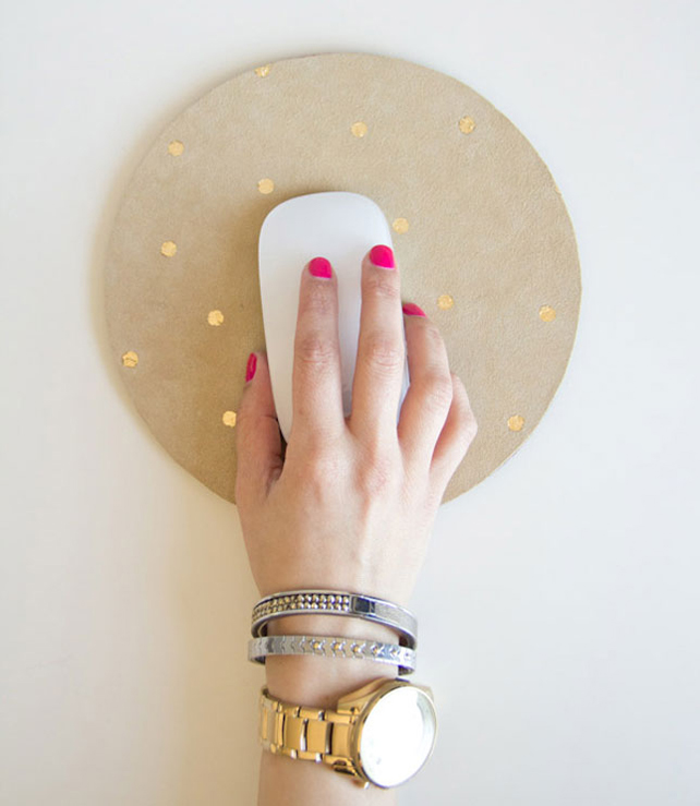 Polka Dot Mousepad DIY from Lovely Indeed