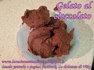 gelato al cioccolato (senza gelatiera)