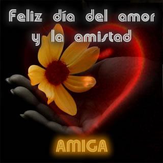 Para amiga feliz día del amor y la amistad