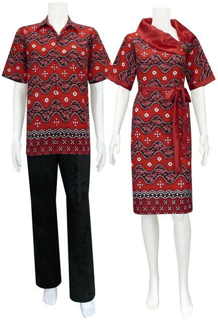 ... katun danliris motif batik asmat warna dombinan ungu berat 5 ons