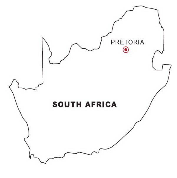 Mapa de Sudáfrica para colorear - Dibujo Views