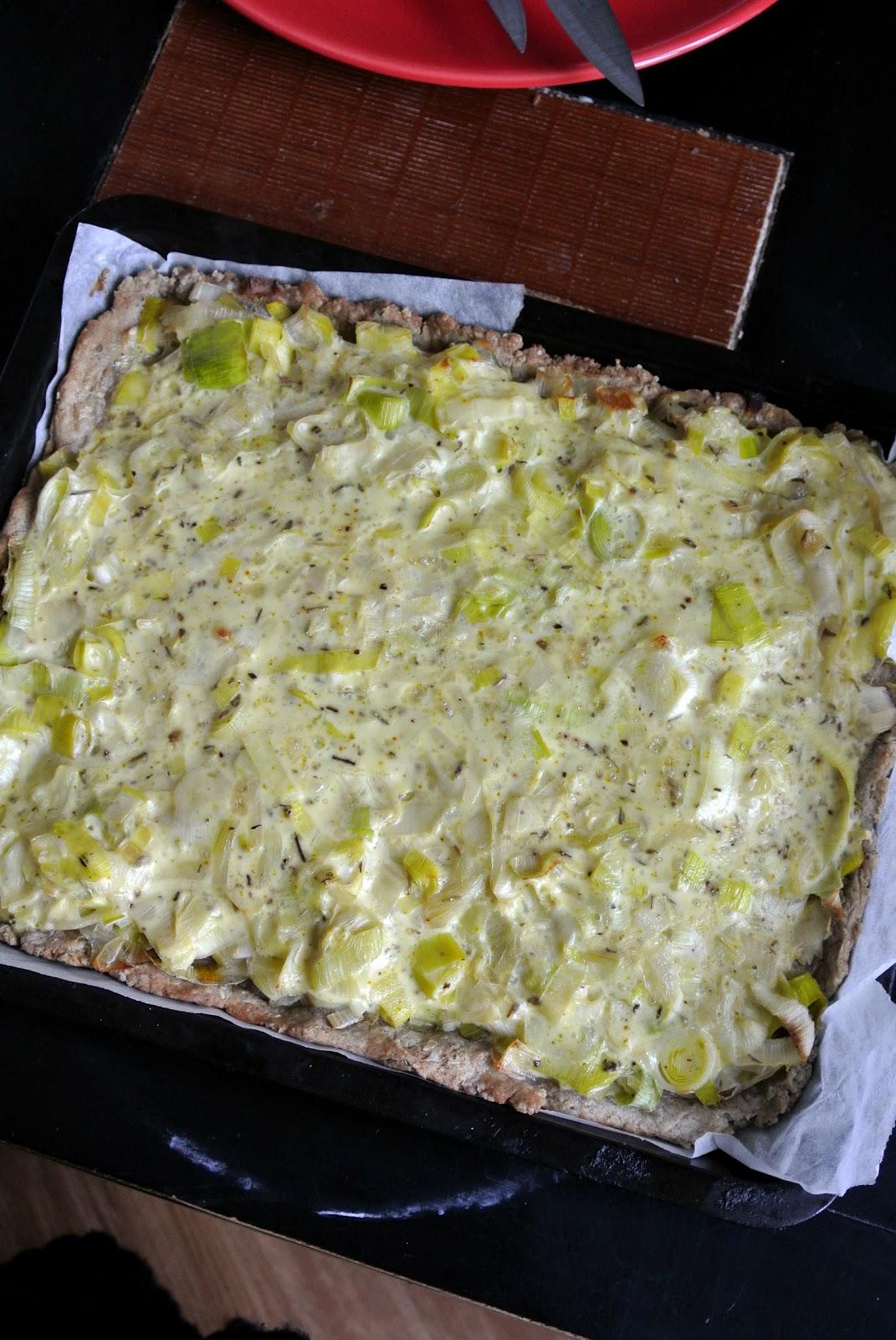Popote et p p te tarte aux poireaux sans lait simple et rapide - Tarte aux poireaux sans oeufs ...