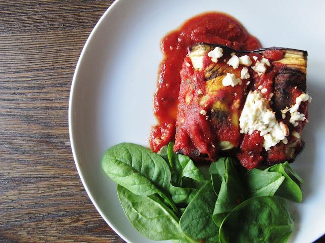 Turkey & Feta Meatball Eggplant Involtini