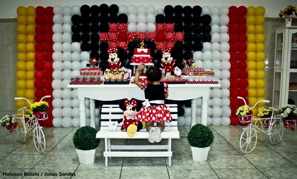 Coisas de Erikota Festa infantil Minnie Vermelha
