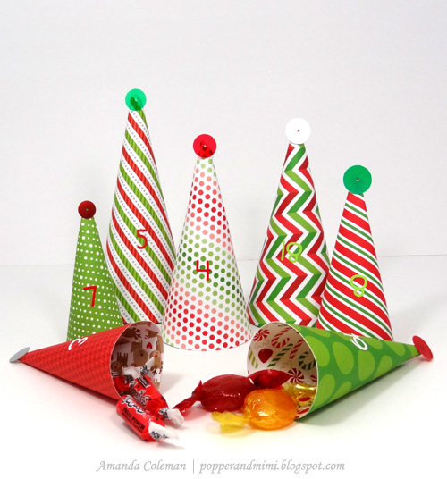 Popper and mimi diy christmas tree advent calendar for Christmas tree advent calendar diy