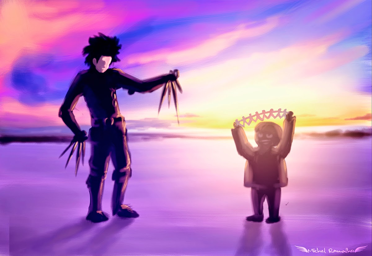 Fanart Edward Scissorhands - Arte Digital - Michel Ramalho