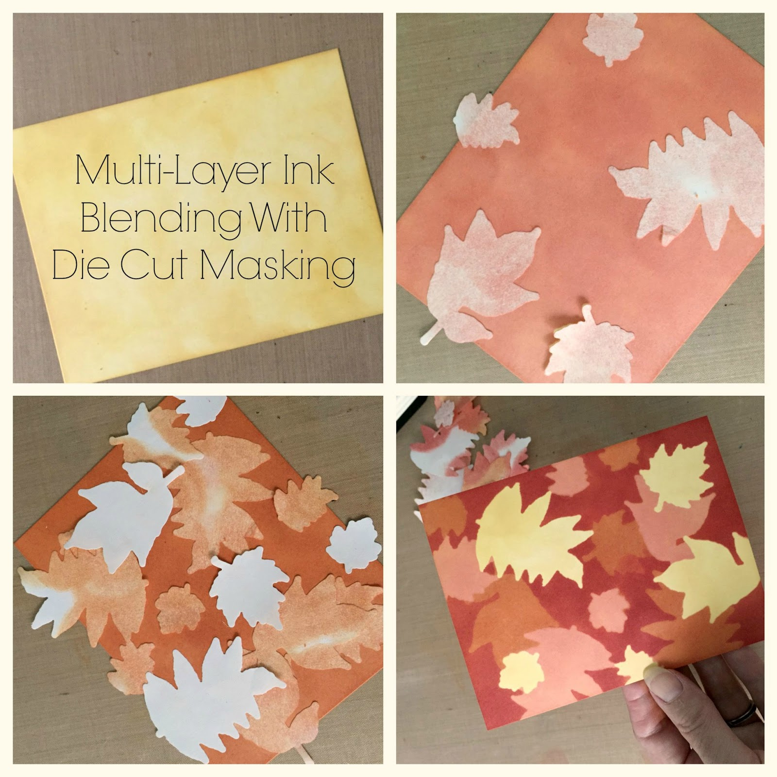 K and R Designs: Multi-Layer Ink Blending With Die Cut Masking