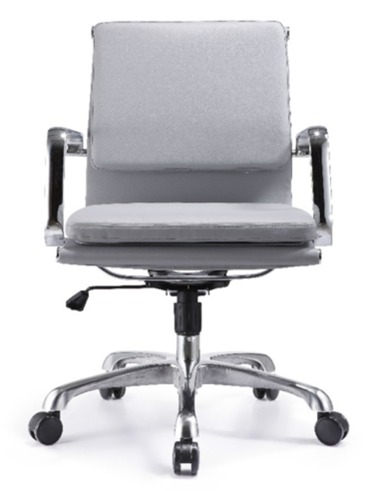 Woodstock Hendrix Gray Leather Office Chair
