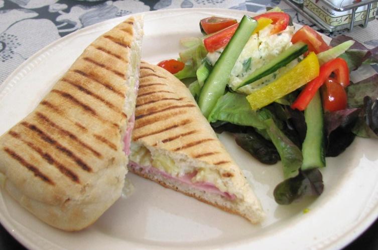 Hawaiian panini at the strand house cafe in dingle