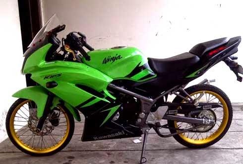Modifikasi Motor Ninja 150 RR, Spesifikasi motor drag