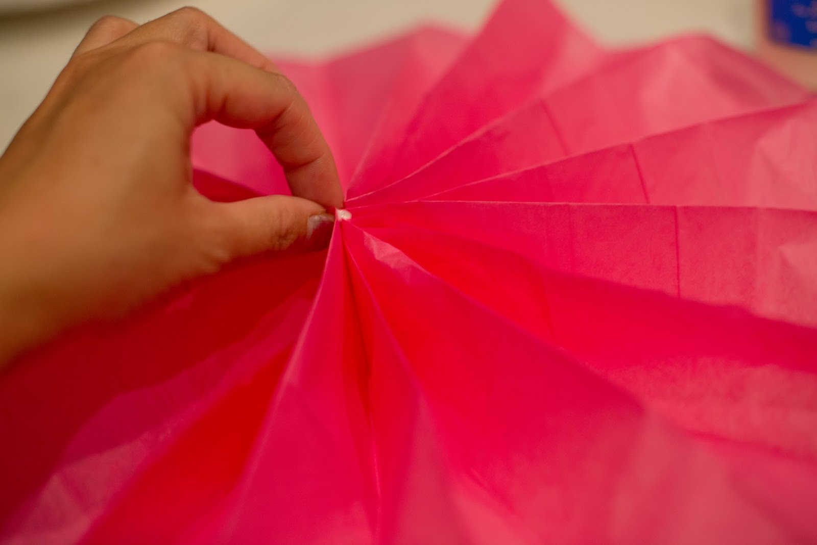Domestic Fashionista Paper Flower Fans Tutorial