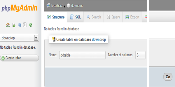 database structure image