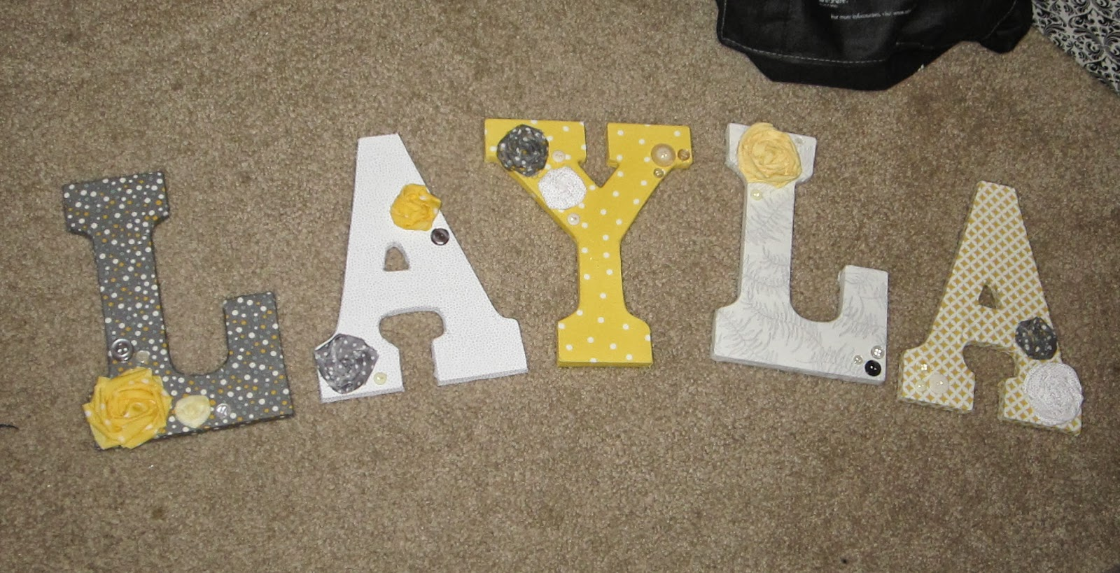 diy baby name letters