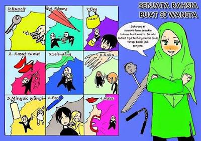 senjata wanita, senjata rahsia wanita, senjata, wanita muslimah, kanvaskehidupanku.blogspot.com
