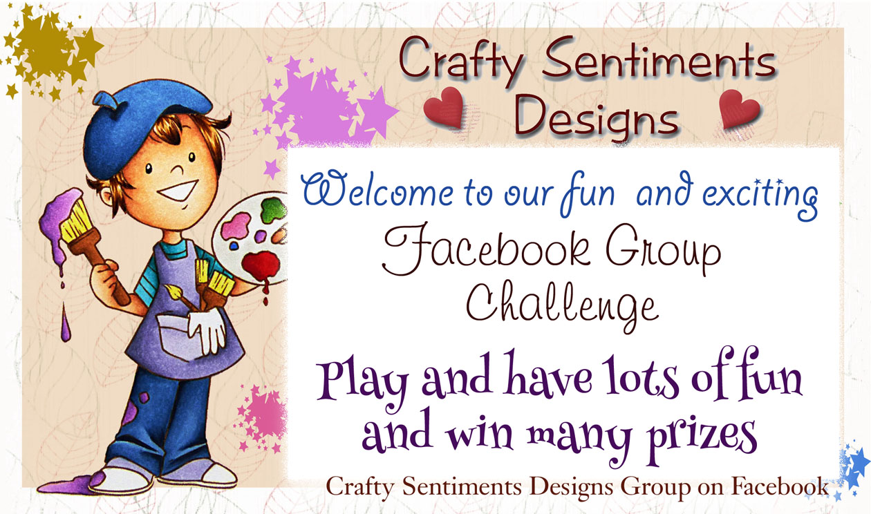 New Crafty Sentiments Designs Facebook Challenge