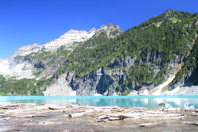 View of Blanca Lake Looking Across the Logjam on the Lake that Leads to Troublesome Creek