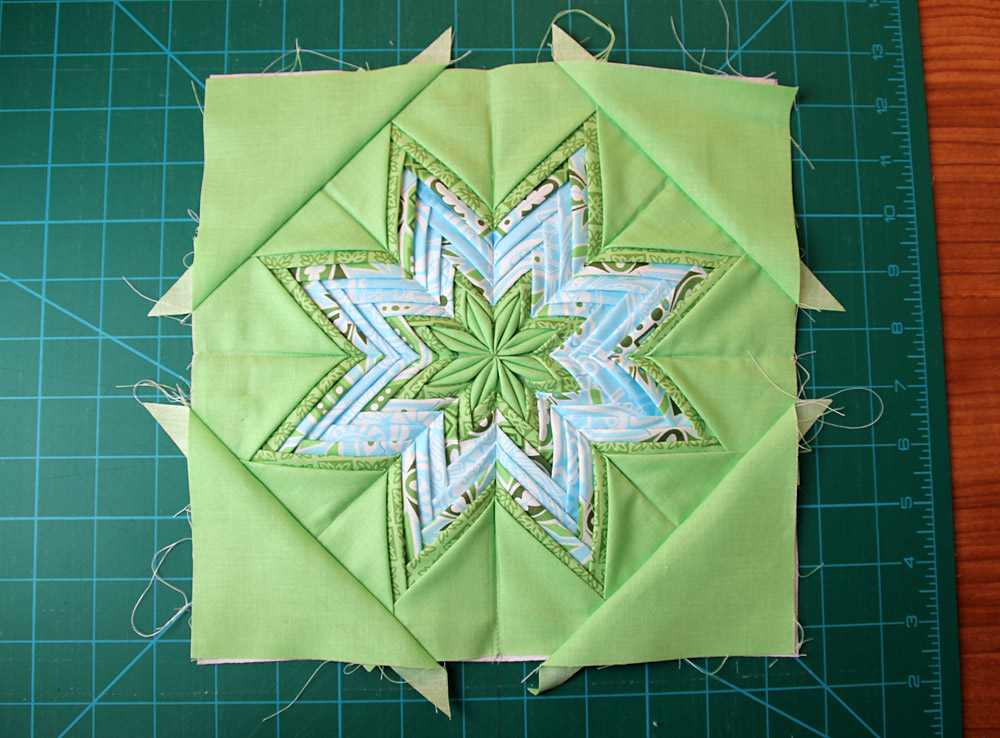 Fancy folded star pot holder patchwork diy tutorial ideas