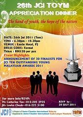 2011年,入围马来西亚十大杰出青年奖