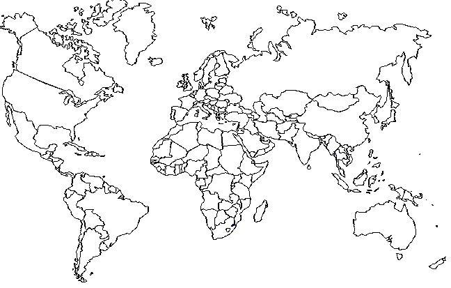 Mapamundi politico con nombres para colorear - Imagui