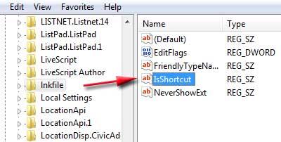 menghilangkan tanda panah pada icon shortcut di desktop