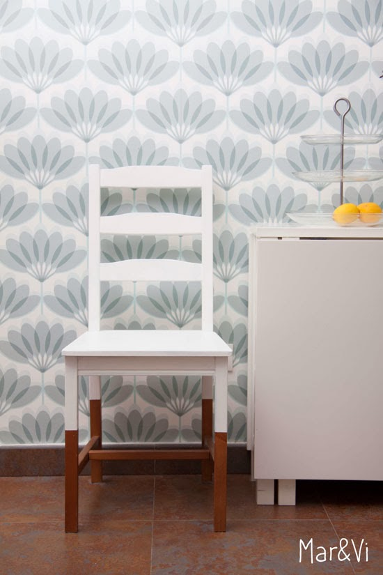 Mar vi blog ikea hacks silla jokkmokk renovada con chalk for Chalk paint muebles ikea
