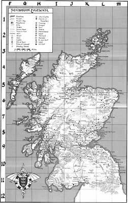 Pendragon's Caledonia map from Beyond the Wall