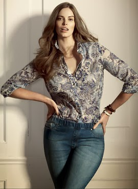 Violeta by Mango jeans blusa tallas grandes