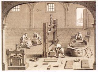 grapado como seria la primera fábrica o taller de elaboración manual del papel