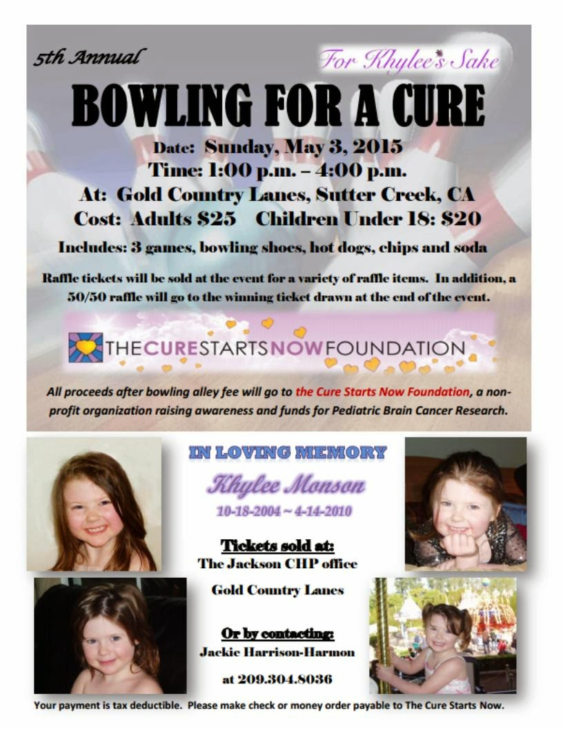 5th Annual Bowling for a Cure - Sun May 3