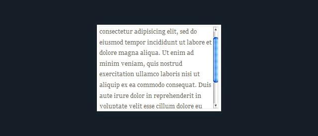 Custom scrollbars