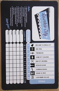 Scorecard from Sparkle City Mini Putt in Spartanburg