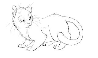 Cat Outline Line Drawing Painting Kindergarten Worksheet Guide