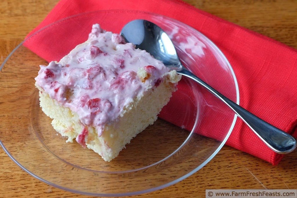 Strawberry Lemon Bisquick Snack Cake and A Peek Into My Process | Farm Fresh Feasts