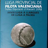 CLASSIFICACIONS GENERALS LLIGA DE LLARGUES I PALMA 2012