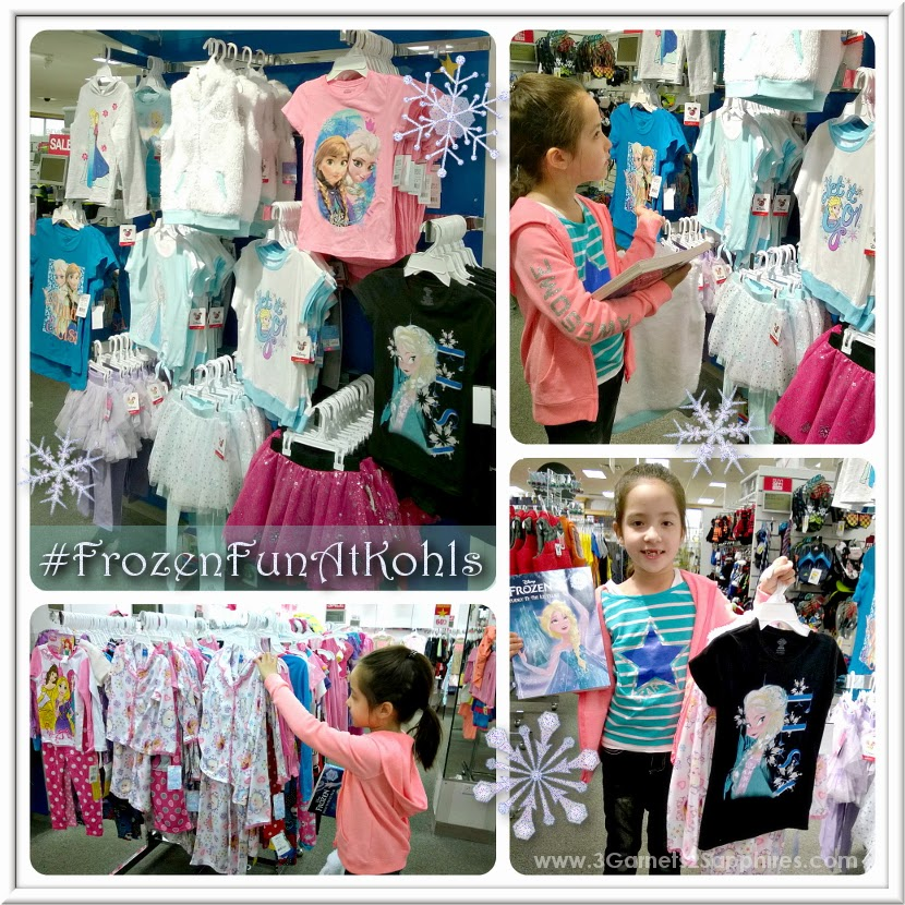 Shopping for Disney Frozen girls fashions at Kohls #FrozenFunAtKohls