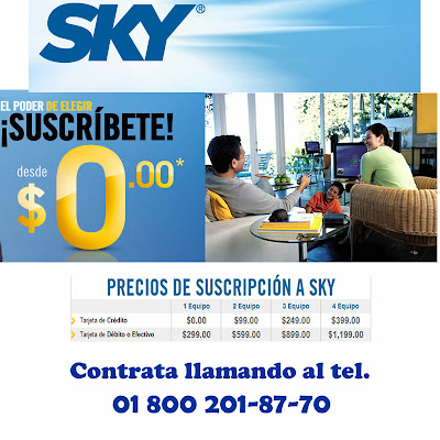 numero telefonico para contratar sky tv en México
