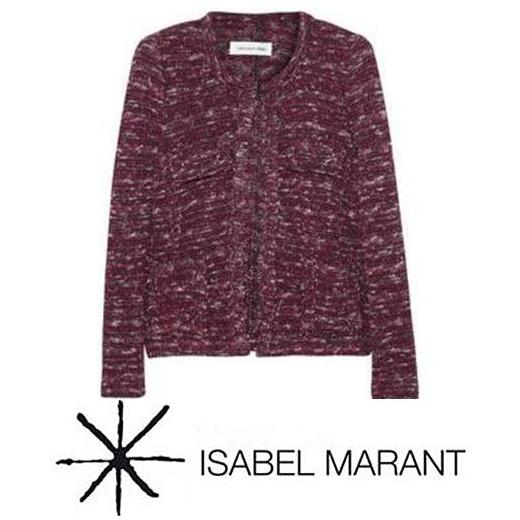 Etoile  - Princess Mary - Isabel Marant Purple Ariana Heather Striped Jacket