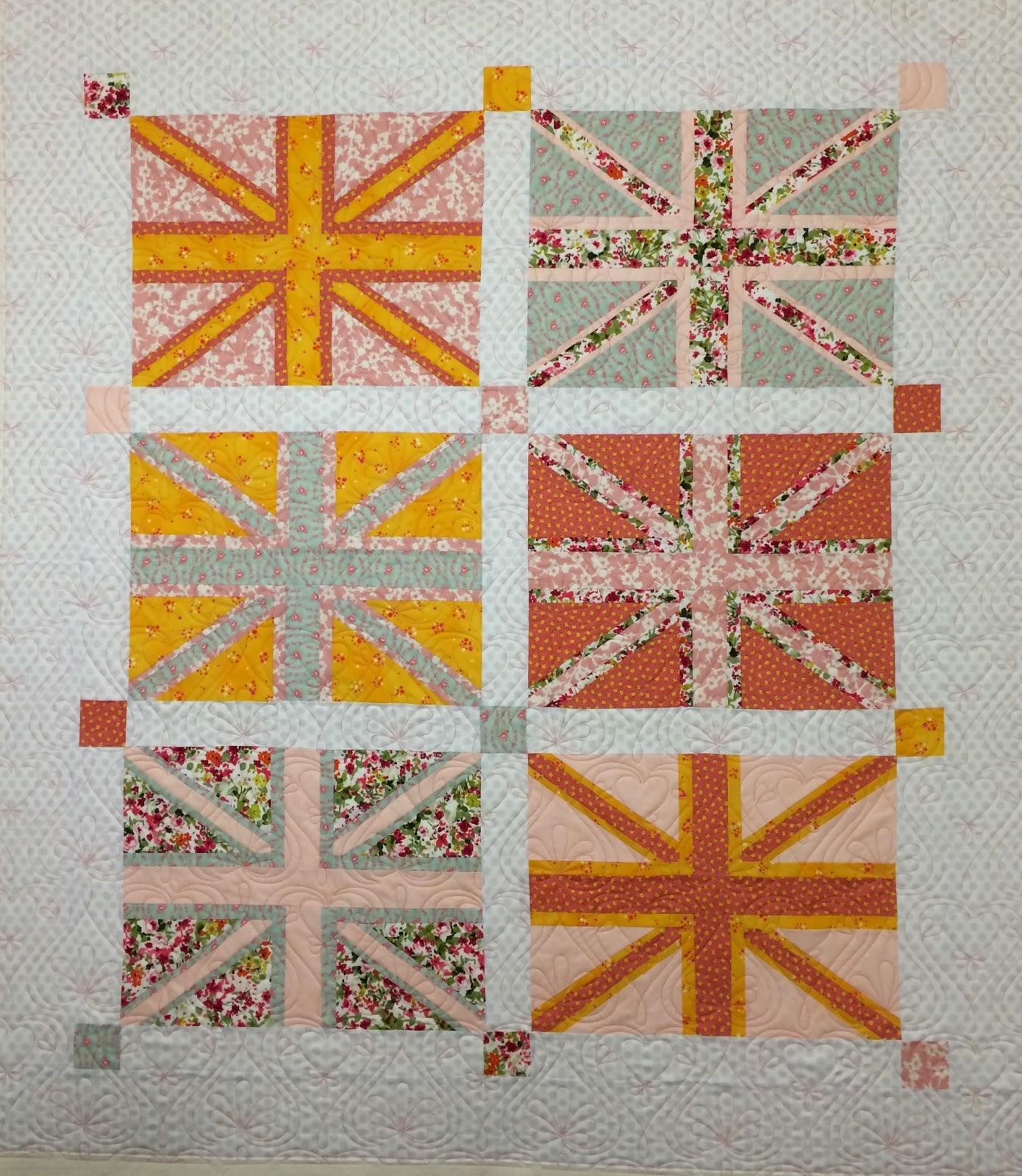 Karen Natale's Baby Union Jack Flag Quilt