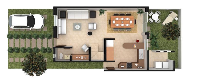 Planos de casas y plantas arquitect nicas de casas y for Modelo de casa 7 x 10