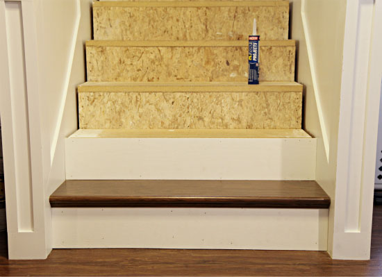 How To Finishing Oak Stair Treads : How To Finishing Oak Stair Treads : Installing Stair Treads and Risers