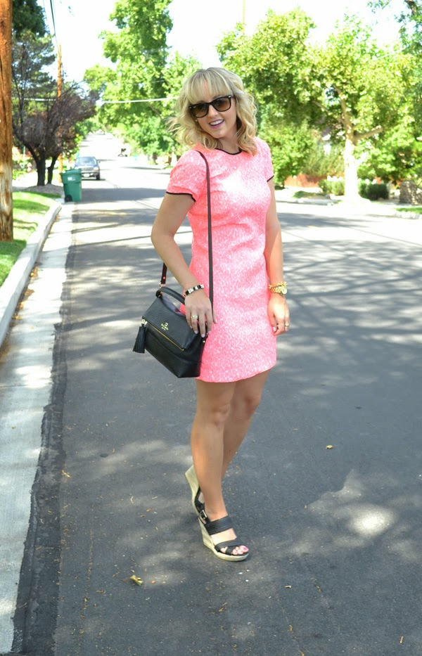 pink banana republic dress, nevada fashion blog, style blogger,